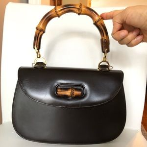 Gucci Classic Bamboo Bag with a leather strap